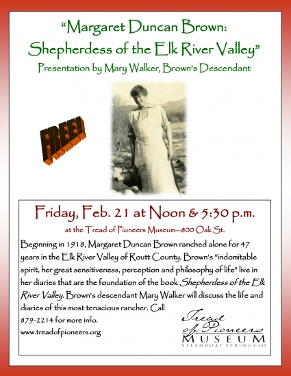 Margaret Duncan Brown: Shepherdess of the Elk River Valley