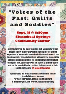 Voices of the Past: Quilts and Soddies