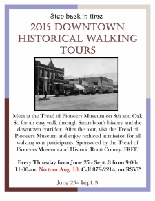 Downtown Historical Walking Tour - Summer 2015