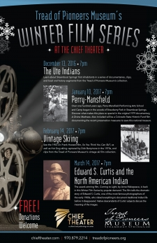 Tread of Pioneers Museum & Chief Theater Winter Film Series 2016-2017