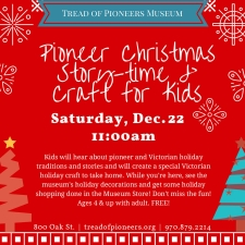 Pioneer Christmas Story-time and craft for Kids
