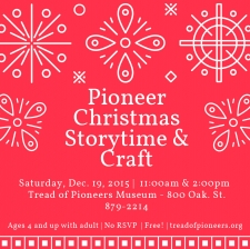Pioneer Christmas Storytime & Craft